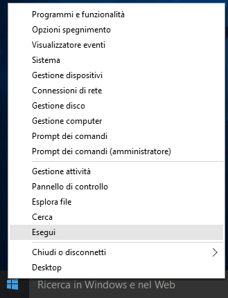 Windows 10: Esegui
