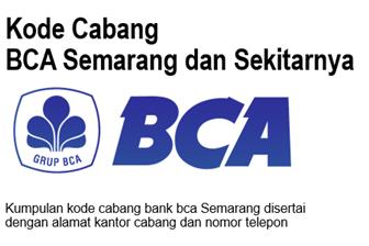 Kode Cabang BCA Semarang dan Alamat Kantor Cabang