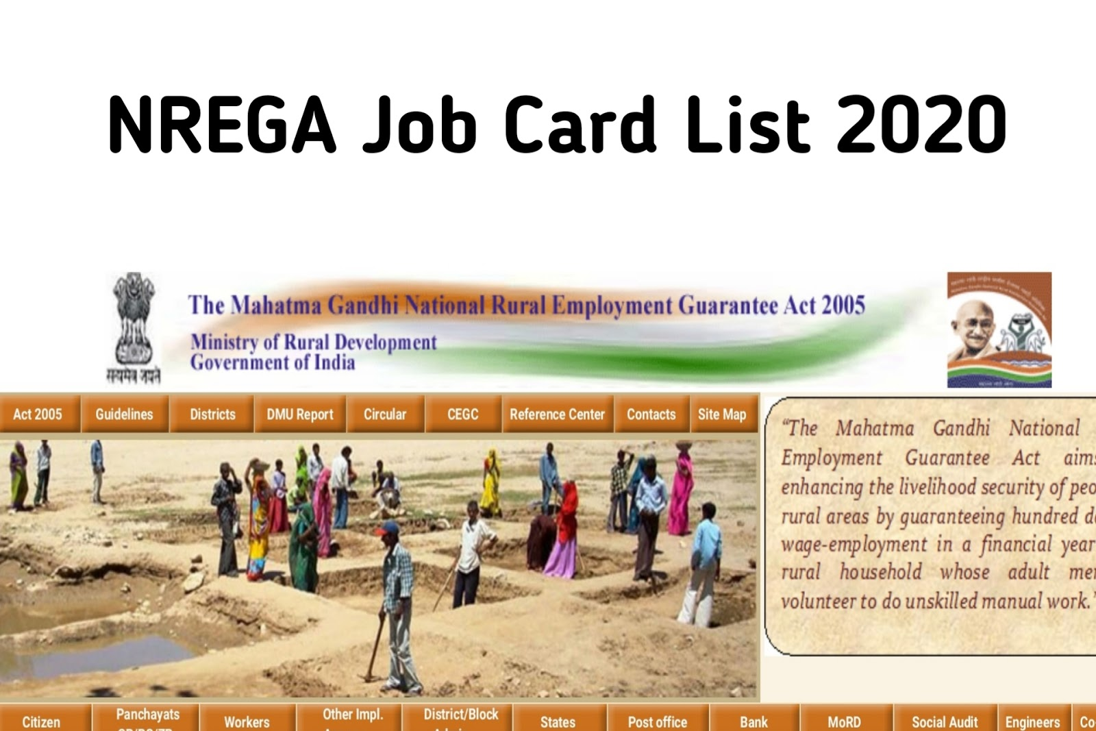 NREGA Job Card, NREGA Job Card list