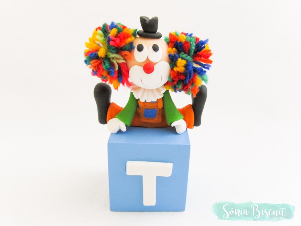Biscuit, Cubos, Cubos Decorativos, Palhaço, Palhaco, Palhacinho, Sonia Biscuit, Circo