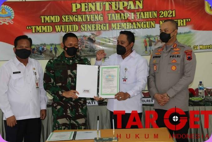 Kodim Pati : TMMD Sengkuyung Ta I 2021, Wujud Sinergitas Membangun Negeri