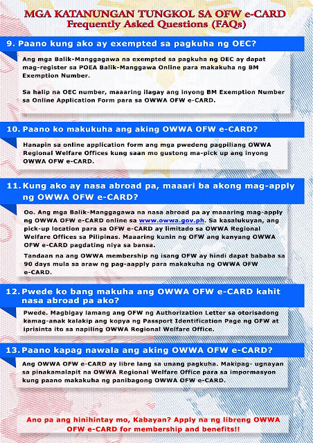 owwa ecard - ofw overseas filipino workers FAQ3