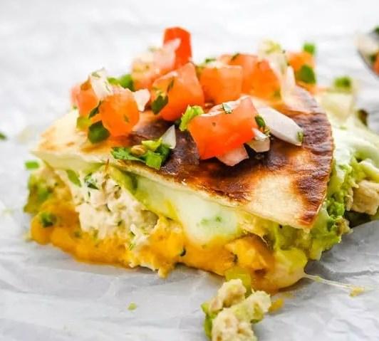 Cheesy Avocado Tuna Melt Quesadillas #lunch #sandwiches