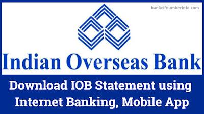 Download IOB Statement Online