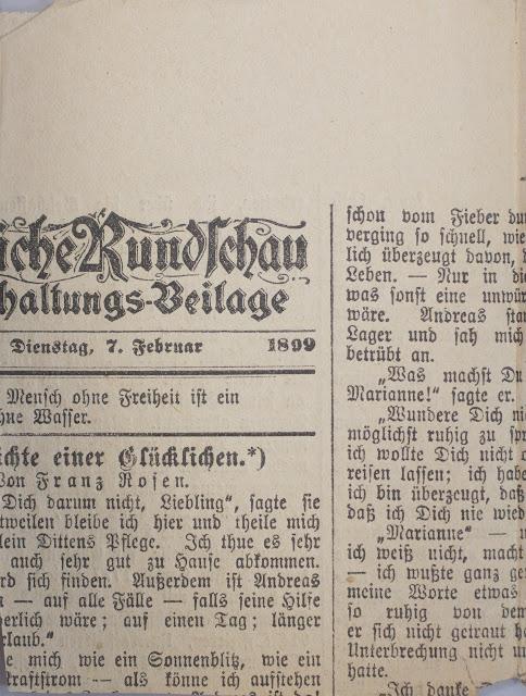 Ausschnitt - Tägliche Rundschau - Dienstag, 7. Februar 1899