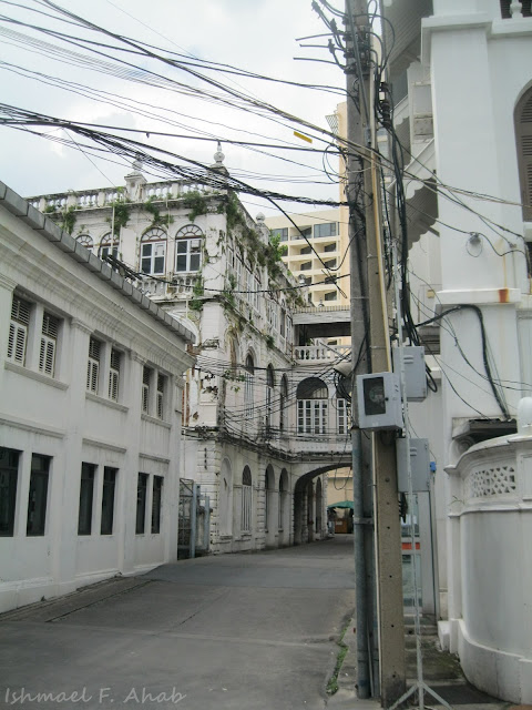 Old buildings within the Bangkok Cathedral complex.