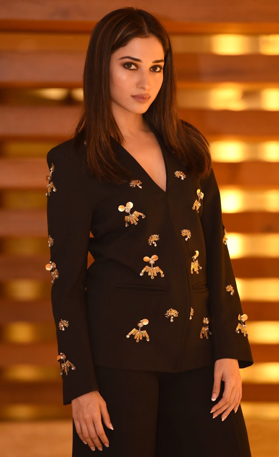 Tamanna In Black Suit - South Indian Actress-4800