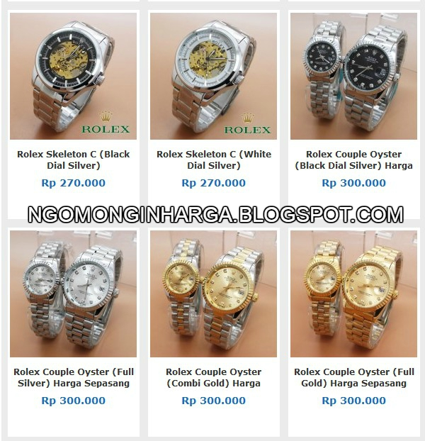 Harga Jam Tangan Rolex KW