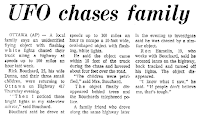 UFO Chases Family - Syracuse Herald-American 11-11-1973