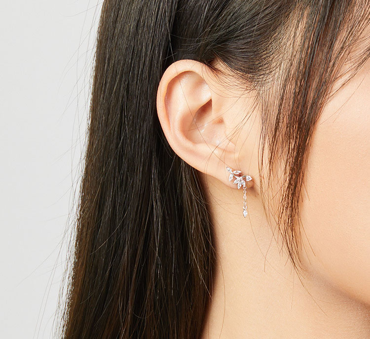 璀璨冰花 925純銀耳環