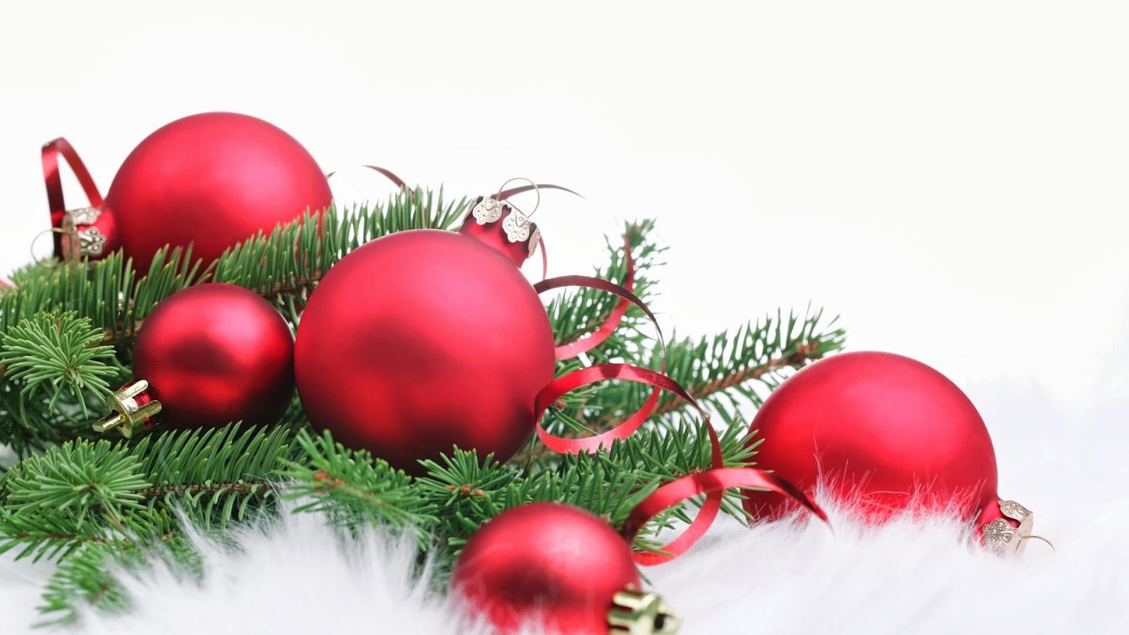 Bolas De Navidad Rojas Sobre Fondo Verde: Imagenes Hilandy: Fondo De Pantalla Navidad Bolas Rojas En