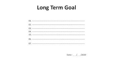 Writing Long Term Goals