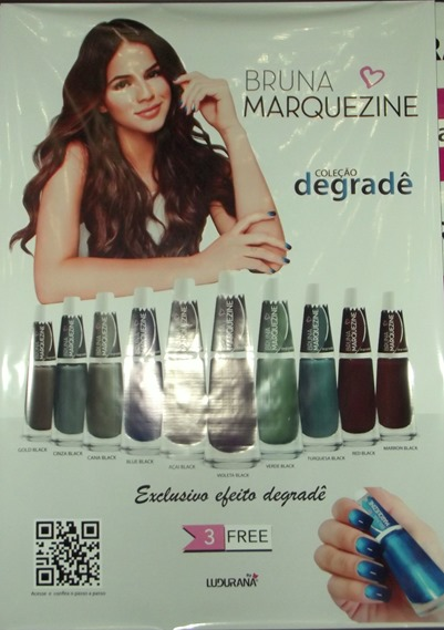 Esmalte degrade de Bruna Marquezine