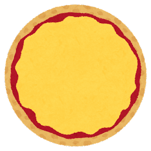 チーズピザのイラスト
