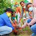 स्वतंत्रता दिवस की पूर्व संध्या पर रोपित किया 74 पौधें