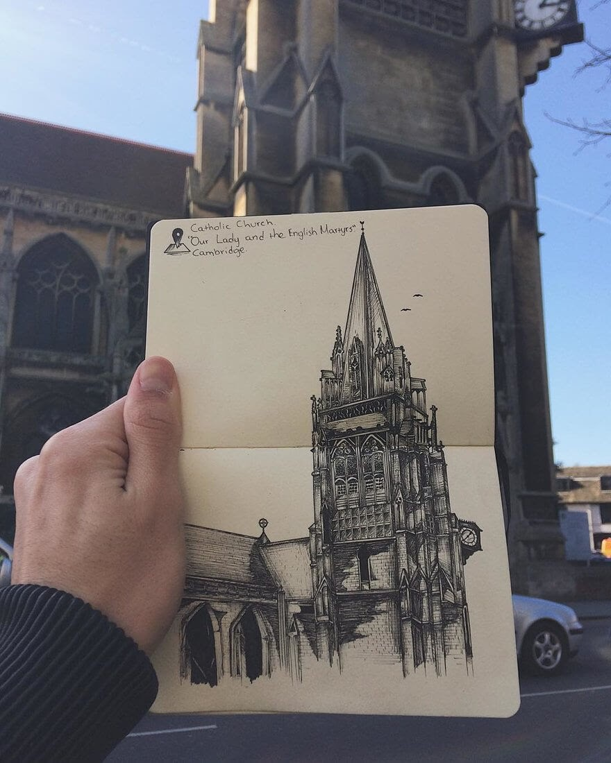 11-Martyrs-Church-in-Cambridge-Alex-Pantela-Ink-Urban-Architectural-Drawings-www-designstack-co