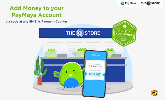 Paymaya Cash in via SM Store Gizmo Manila
