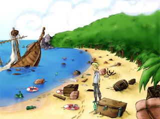 El Amuleto de Monkey Island - el naufragio