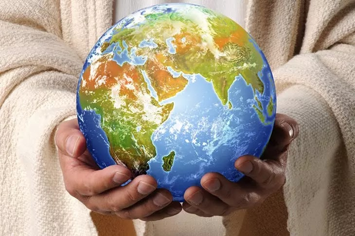 Jesus segurando o mundo