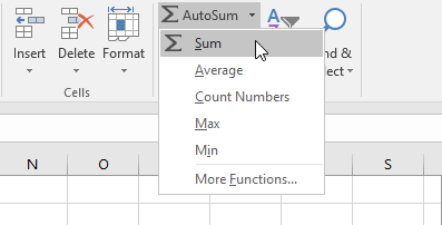 pilih fungsi dari autosum