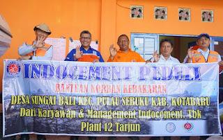 GM ITP Tbk Plant 12 Tarjun Serahkan Bantuan Bahan Bangunan Untuk Sebuku