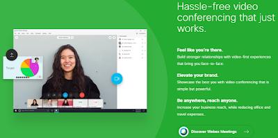 cisco webex video conferencing