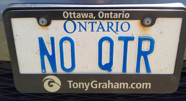 Personalized vanity Ontario licence plate NO QTR