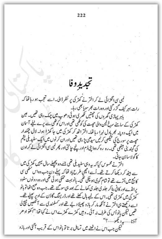 Free urdu digests tajdeed e wafa novel by bano qudsia for Bano qudsia books