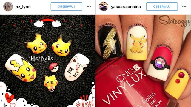 paznokcie z pikachu