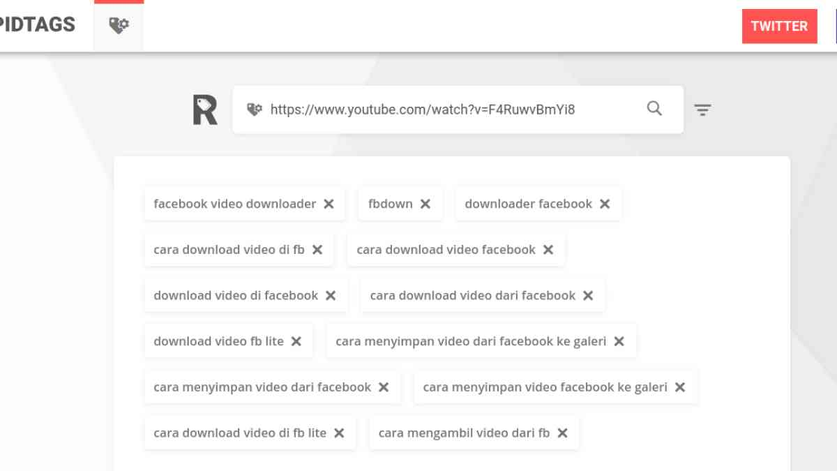 lihat tag youtube