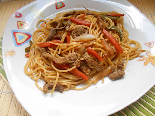 532° Receta: Espaguetis Con Ternera Estilo Chino