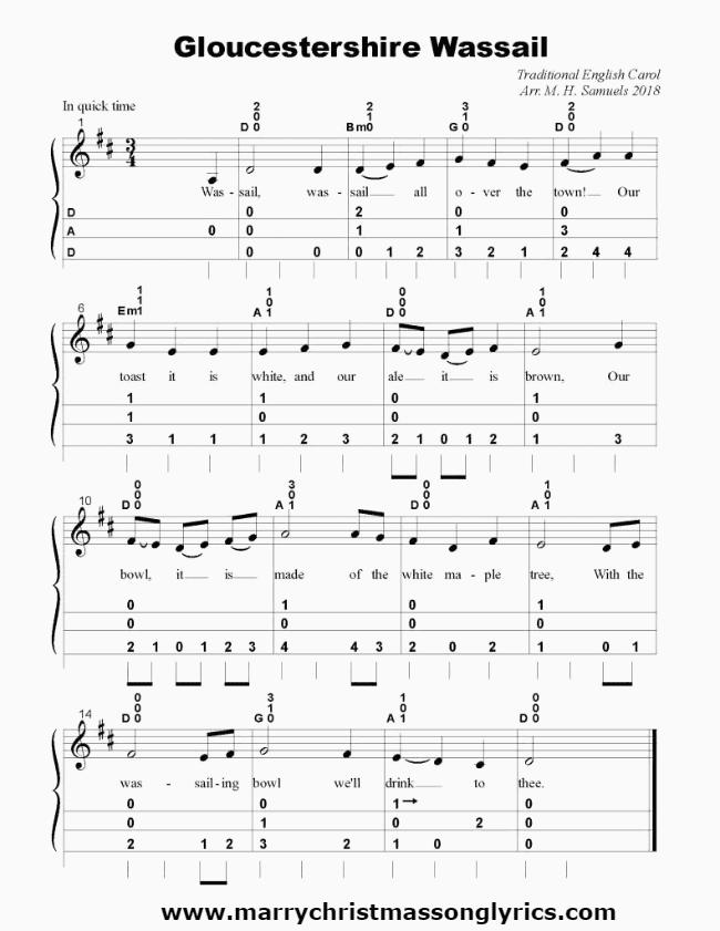 Gloucestershire Wassail Sheet Music