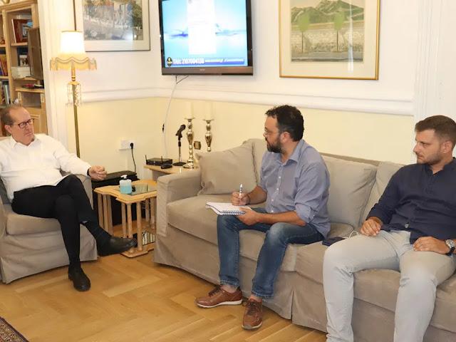 Συνάντηση του περιφερειάρχη Π. Νίκα με τον Δήμαρχο Επιδαύρου Τ. Χρόνη