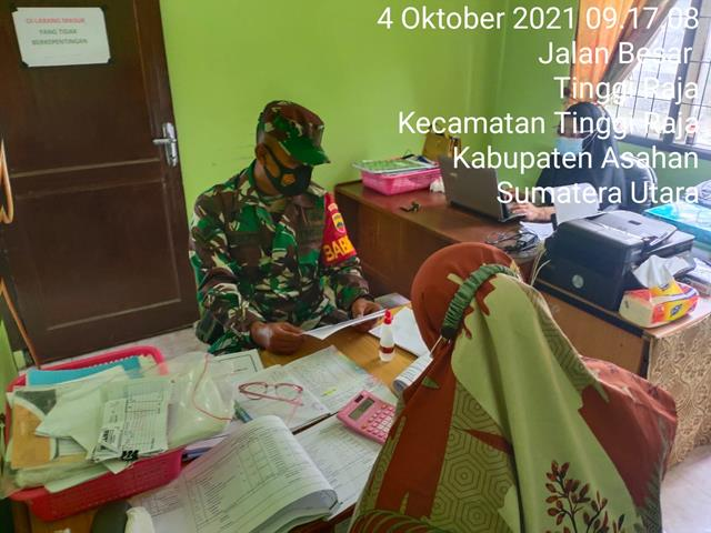 Tingkatkan Kerjasama, Personel jajaran Kodim 0208/Asahan Laksanakan Komsos Dengan Perangkat Desa