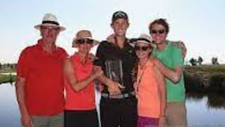 Thomas Pieters With His Family
