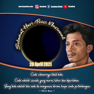 Bingkai twibbon hari puisi nasional transparan PSD - kanalmu