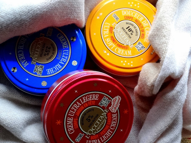 L'Occitane Honey Harvest, Festive Garden and Shea Butter Holiday Body Creams