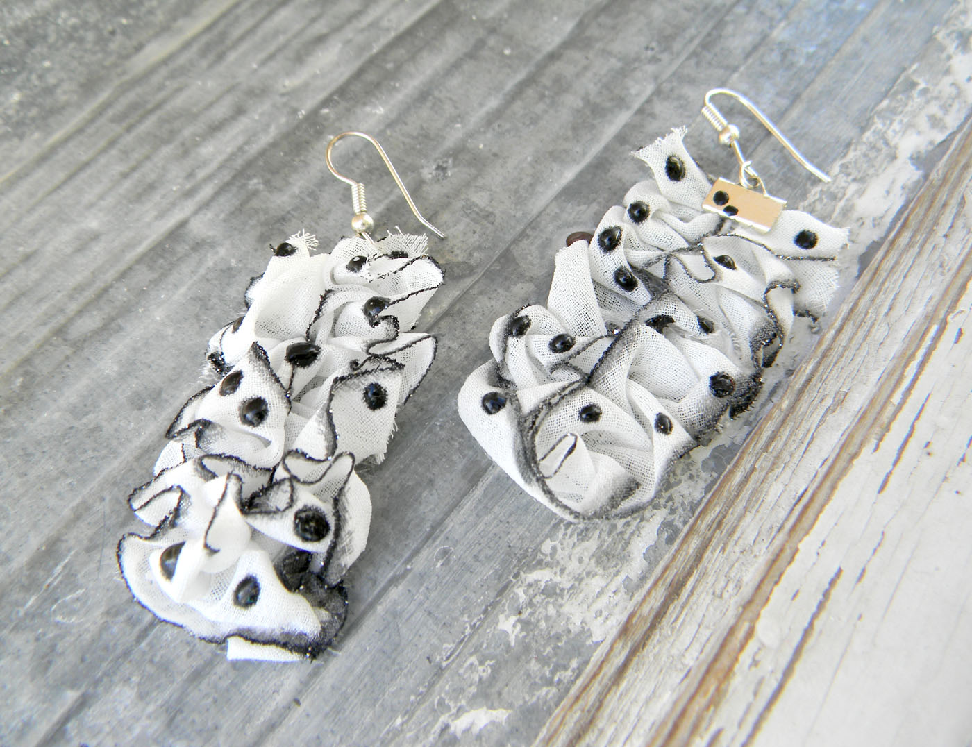 Retro Dots Style Handmade Earrings