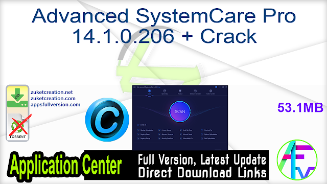 Advanced SystemCare Pro 14.1.0.206 + Crack
