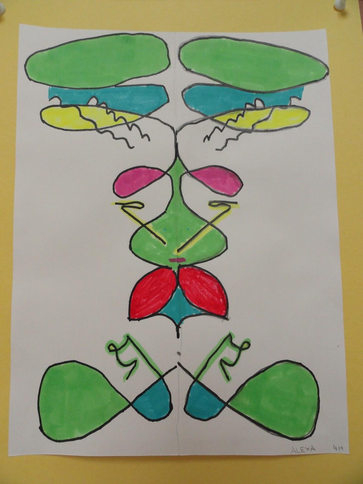 Sinking Springs Art 4th Grade Symmetrical Name Designs