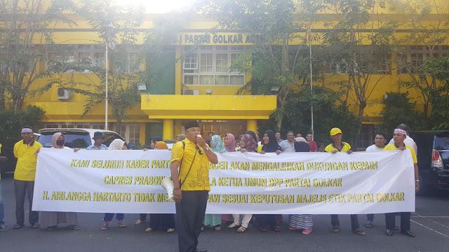 Para Kader Golkar di Aceh Ancam Membelot Dukung Prabowo
