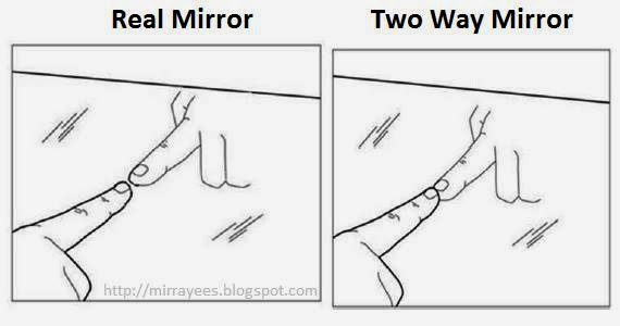 Rayees rehman mir how to detect 2 way mirror and hidden for Two way mirror