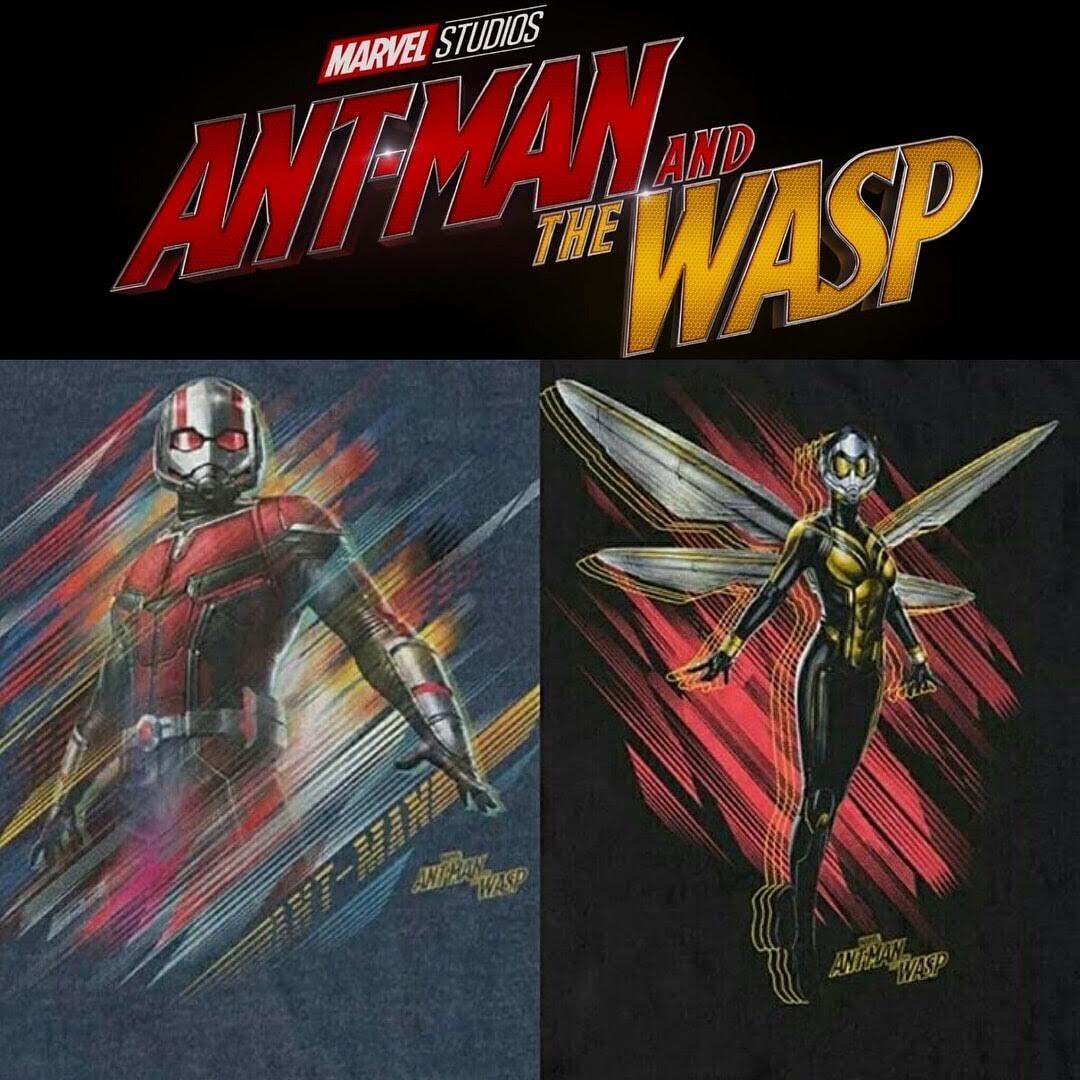 Ant Man and the Wasp : ディズニー・マーベルのヒーロー映画の最新作「アントマン・アンド・ザ・ワスプ」のスコットとホープの男女タッグと悪のヒロインのザ・ゴーストを描いたプロモ・アート計18点 ! !