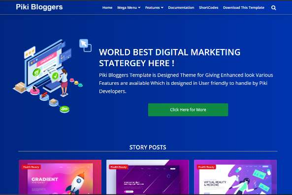 Blogger Template Piki Bloggers