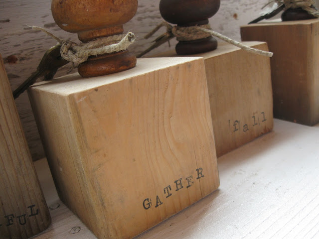 Chipping with Charm: Wood Block Pumpkins...www.chippingwithcharm.blogspot.com