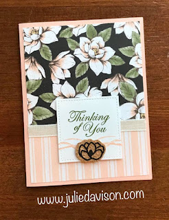Stampin' Up! Magnolia Lane Designer Paper Projects ~ 2019-2020 Annual Catalog ~ www.juliedavison.com