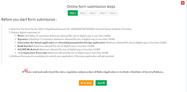 How to apply for Entrance Exam Form for IOF, B.Sc. Forestry Online?-- Required Documents