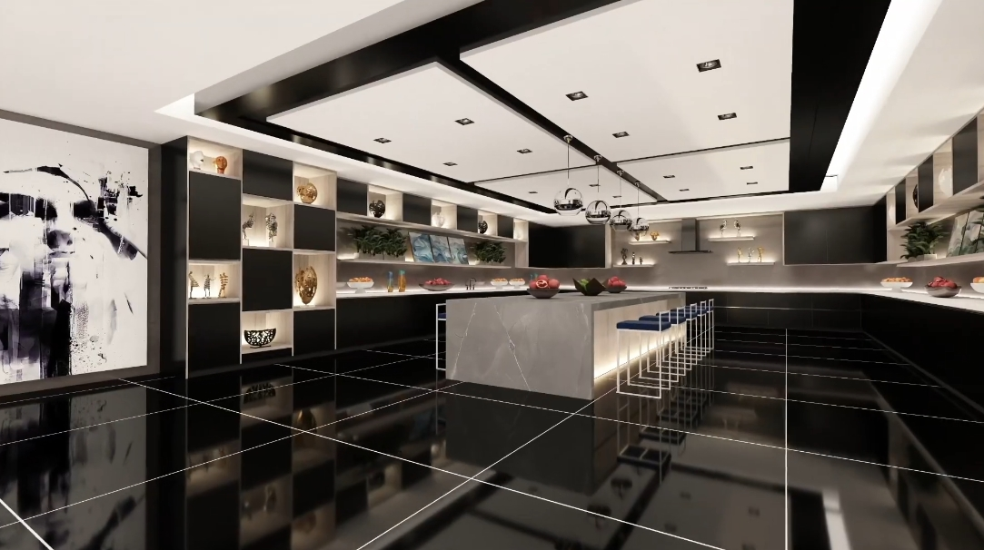 44 Interior Design Photos vs. 1043 N Bundy Dr, Los Angeles Ultra Luxury Mansion Rendering Tour