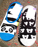 Target ankle socks shy panda peek-a-boo happy koalas blakc white blue