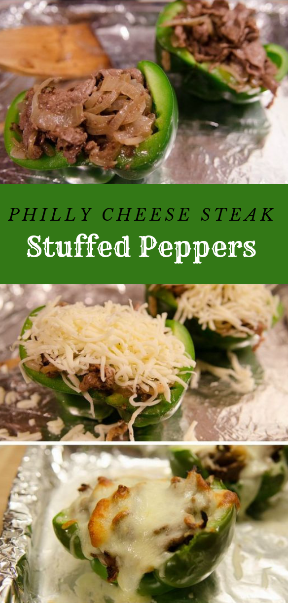 Philly Cheese Steak Stuffed Peppers #dinner #delicious